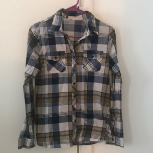Medium blue plaid shirt